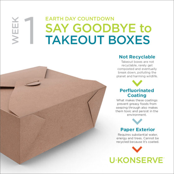 meal delivery and takeout trash