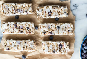 Blueberry Vanilla Greek Yogurt Bars from Half Baked Harvest