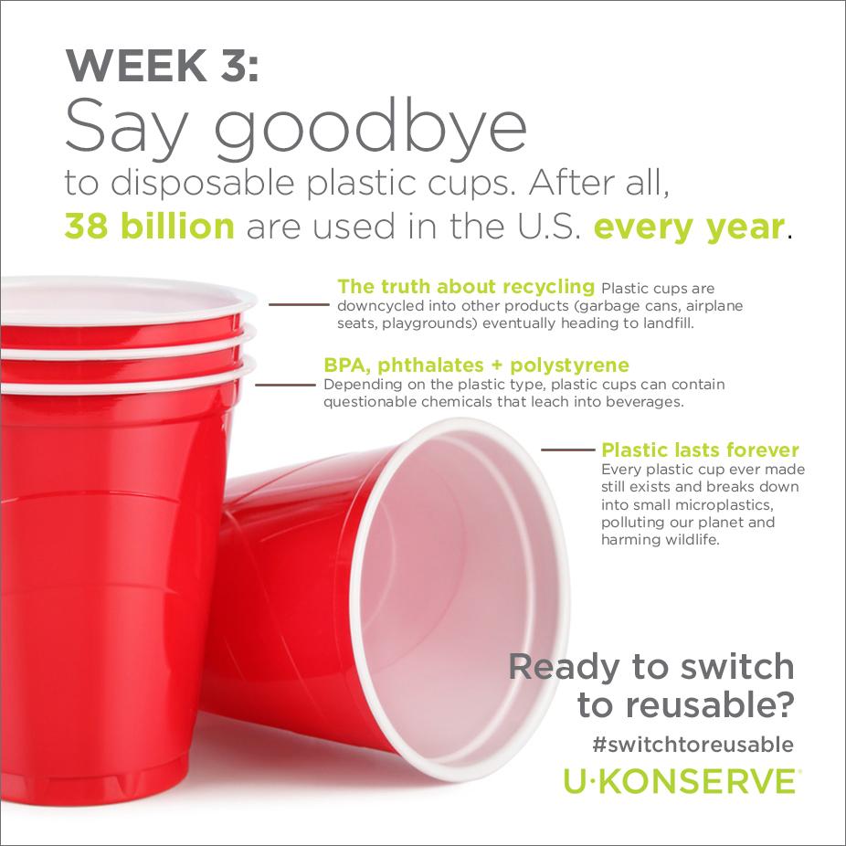 single-use plastic cup